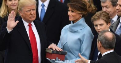 Donald Trump Takes Oath Of Office