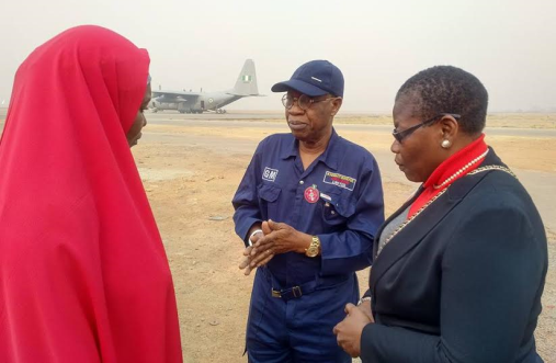 [PHOTOS] Lai Mohammed, BBOG Members Including Oby Ezekwesili Depart For Sambisa Forest