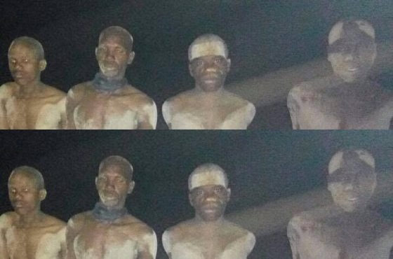 [PHOTOS] Four Suspected Boko Haram Terrorists Arrested With 100 Motorcycles In Borno