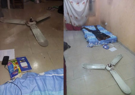 Photos final year uniuyo student escapes death after fan falls off fans falls down aloadofball Gallery