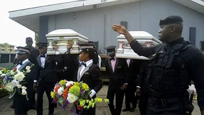 businessman and wife buried