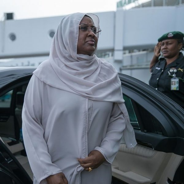 Image result for Aisha Buhari Departs For London