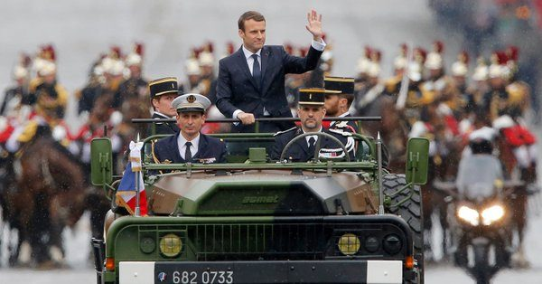 Image result for Emmanuel Macron, 39 inaugurated as France's president