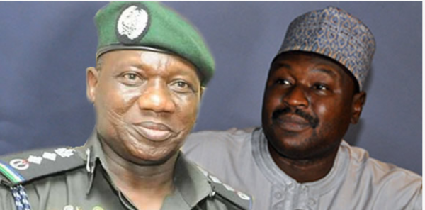 Image result for Police IG Ibrahim Idris; and Senator Isah Misau.
