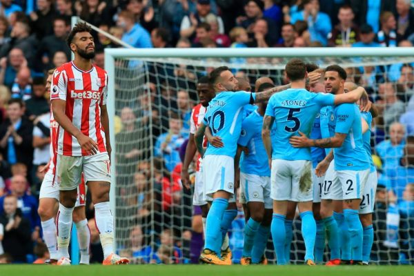 Image result for man city 7-2 stoke city