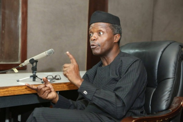 "yemi osibanjo - ""Stop Giving Bribe To Police, Immigration, Others"" – Osinbajo"