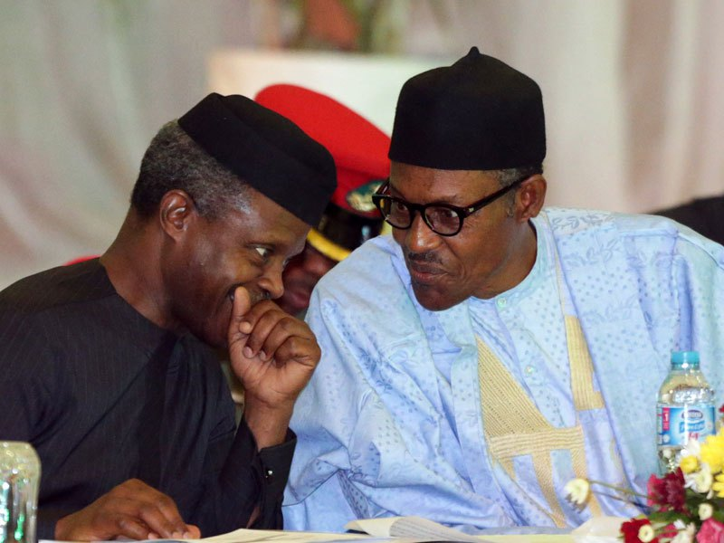 "Buhari and Osinbajo - ""We Feed Pupils With 594 Cattle, 138,000 Chickens, 6.8m Eggs Weekly"" – Osinbajo"