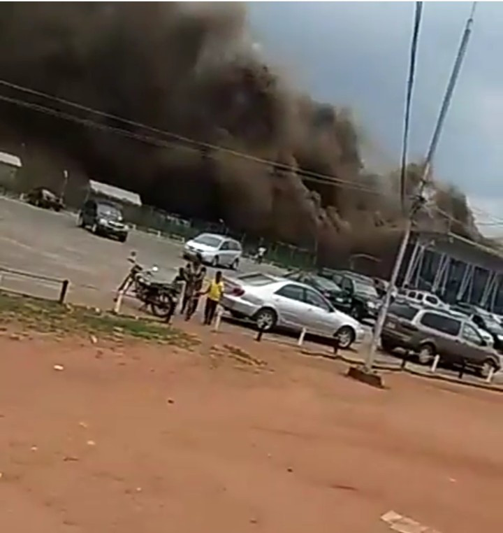 """BURNING AIRPORT - [VIDEO] """"Blood of Jesus Quench This Fire"""" – Eyewitness Screams As Sam Mbakwe Airport Burns"""