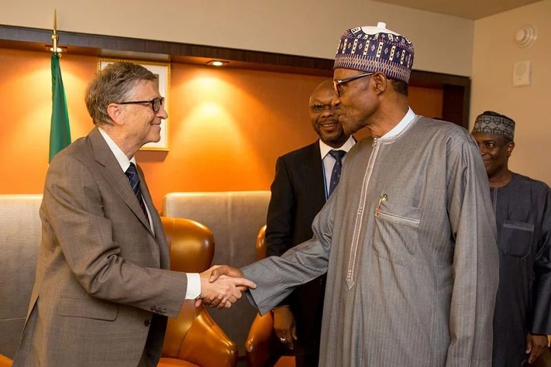 "Bill Gates and Buhari - ""I Am Very Happy The Way Your Projects Have Touched The Life of The Average Nigerian"" – Bill Gates To Buhari"
