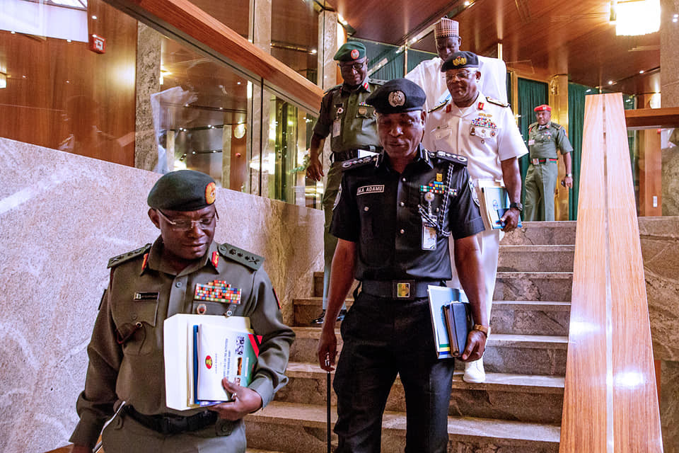 "Buhari and security chief 1 - ""Deal Ruthlessly With Bandits, Kidnappers, Others"" – Buhari Orders"
