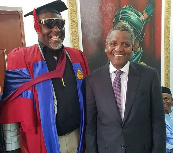 Dino Melaye Dangote5 - Photos: Aliko Dangote Attends Senator Dino Melaye's Convocation As He Bags An Msc