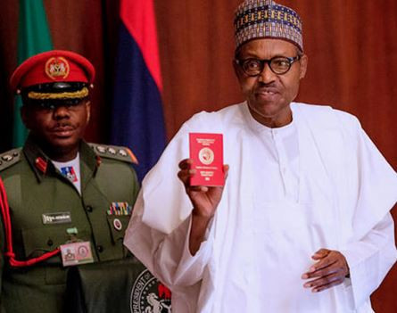 bUHARI PASSPORT - Nigerian Immigration Service Begins Issuance of New Passport With 10-year Validity