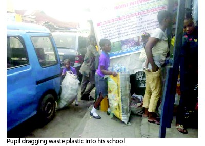 school - See School Where They Use Plastic Bottles To Pay School Fees