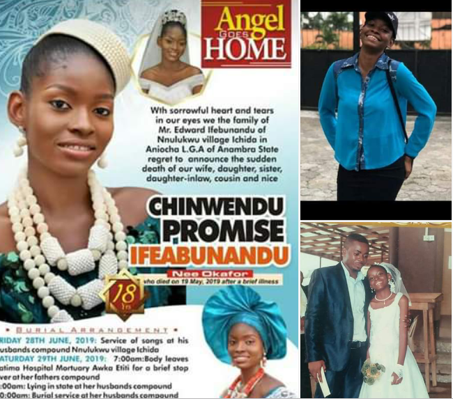 18 year old dead - Photos: 18-year-old Nigerian girl dies 3 weeks after her wedding