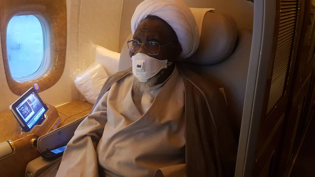 El Zakzaky plane to India - See Photos of El-Zakzaky on board plane to India