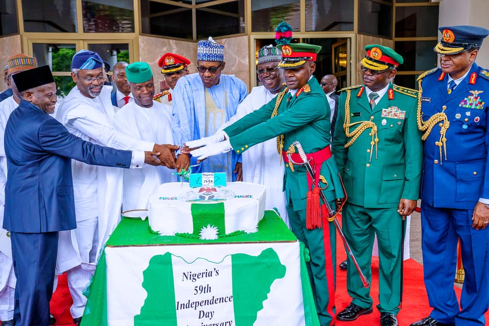 Nigeria At 59 2 - [PHOTOS] Buhari, other leaders at Nigeria's 59th Independence anniversary