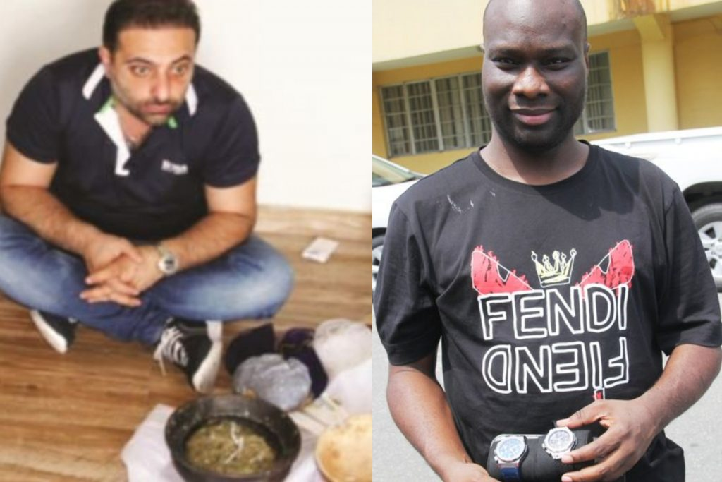 momphas partner 1024x683 - [PHOTO] EFCC arrests Mompha's Lebanese partner with charm in N1.8b Lagos home