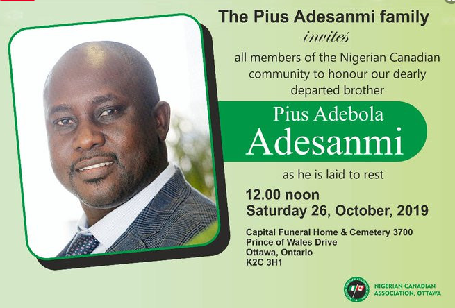 pius adesanmi set to be buried - Pius Adesanmi, who died in Ethiopian plane crash, to be laid to rest today October 26th