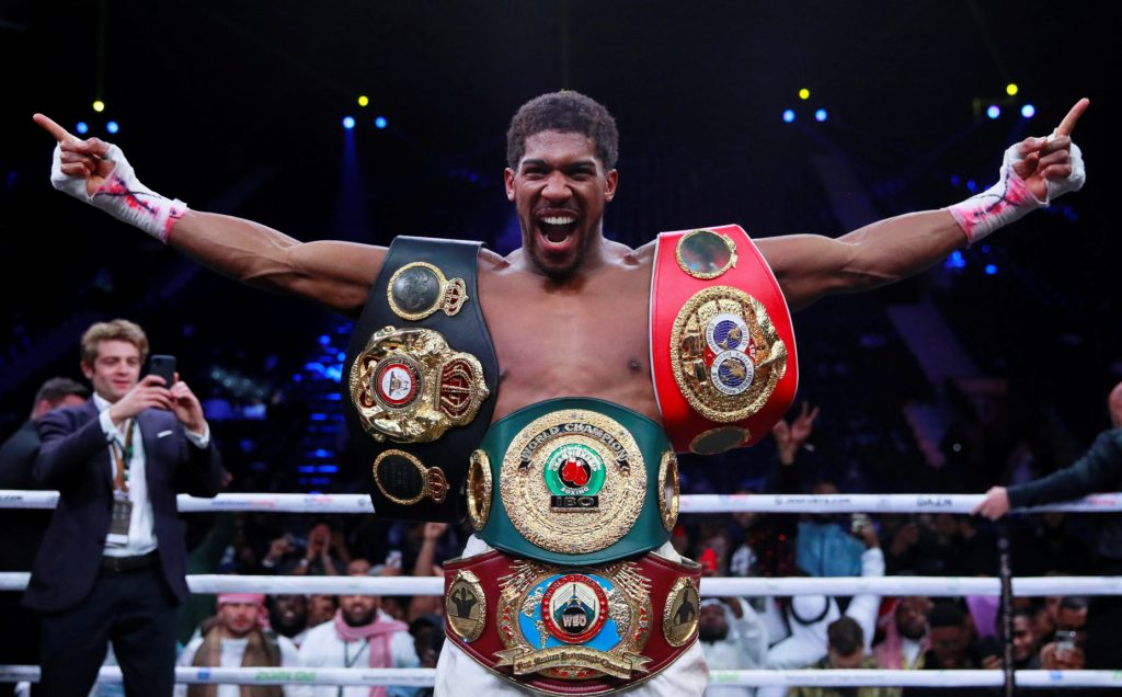 anthony joshua defeats andy ruiz 1024x636 - Anthony Joshua to present his belts to Buhari -Sports Minister