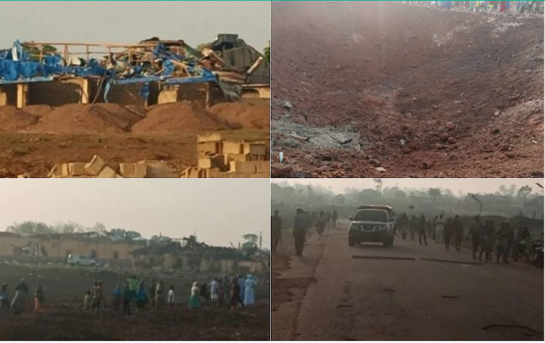 explosion rocks ondo - BREAKING: Explosion Rocks Akure, 100 Houses, School, Churches Destroyed