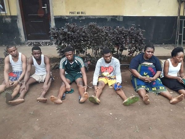 police arrest killers of uniben student - [PHOTO] Police parade 6 suspects over rape, murder of UNIBEN student, Uwa