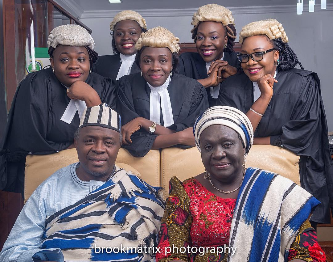 Meet First Nigerian Couple Whose Five Children (All Girls) Are Lawyers